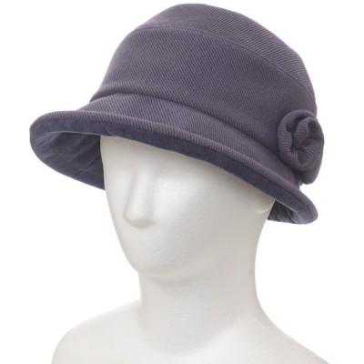 レディース 【在庫限り】帽子 洗える花付き バイオレット