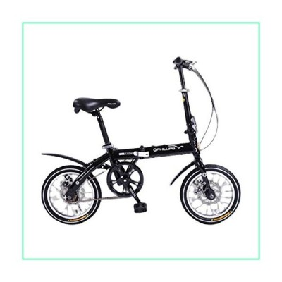 Bikes Kids AGYH Foldable Children's Bicycle, Seat Handlebar Height Adjustable, Lightweight and Portable, Suitable for Children 8-15 Years Old, 14 Inch