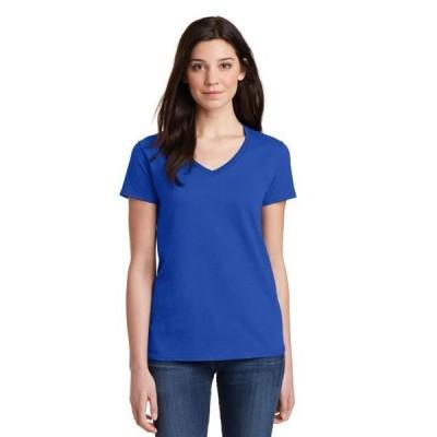ユニセックス 衣類 トップス Gildan Ladies Heavy Cotton 100% Cotton V-Neck T-Shirt グラフィックティー