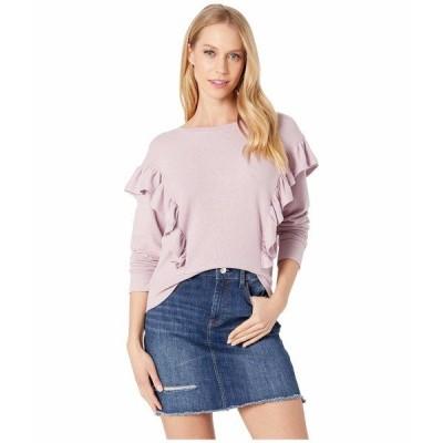 カップケーキアンドカシミア パーカー・スウェットシャツ アウター レディース Primrose Ruffle Knit Top Dawn Pink