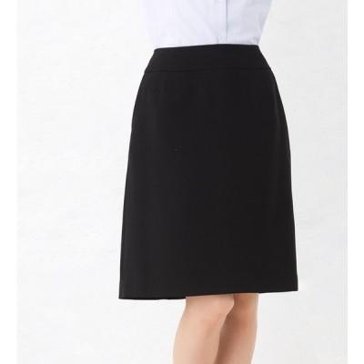 セミAラインシルエットスカート 事務服 企業制服 オフィスユニフォーム リクルートスーツ 通勤 入学式 卒業式にもおすすめ! ひざ丈 きれいめ