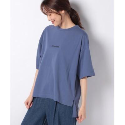 (JNSJNL/ジーンズメイト レディース)【ZEROSTAIN】スモールロゴTシャツ/レディース ブルー