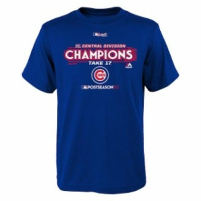 Majestic マジェスティック スポーツ用品  Majestic Chicago Cubs Youth Royal 2017 NL Central Division Champions Locke