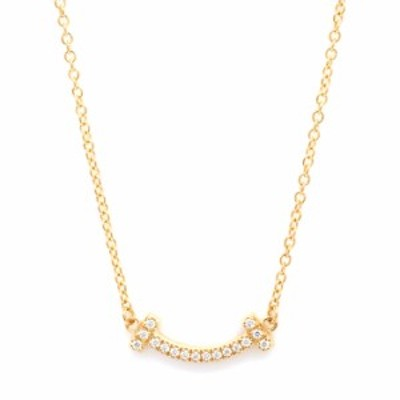 【新品仕上げ済み】ティファニー T スマイル ミニ ダイヤモンド 18金イエローゴールド【ペンダント】【中古】