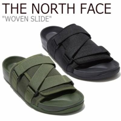 ノースフェイス サンダル THE NORTH FACE メンズ レディース WOVEN SLIDE ウーブン スライド ブラック カーキ NS98L16J/K シューズ