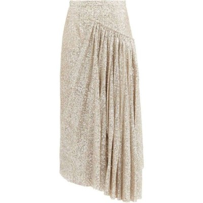 ロシャス Rochas レディース ひざ丈スカート スカート Asymmetric sequinned skirt Champagne silver