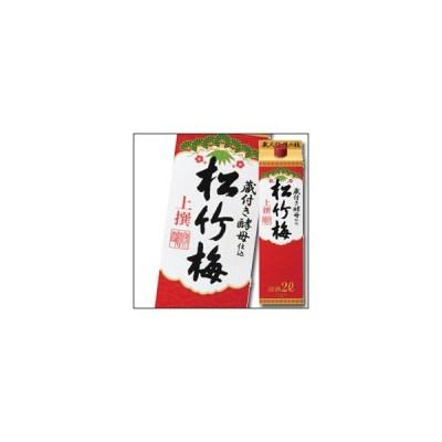 【送料無料】京都・宝酒造 上撰松竹梅 サケパック2L×1ケース(全6本)