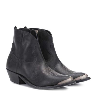 ゴールデン グース Golden Goose レディース ブーツ ショートブーツ シューズ・靴 young leather ankle boots Black Leather