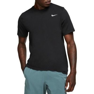 ナイキ Tシャツ トップス メンズ Nike Men's Dri-FIT Training T-Shirt Black/White