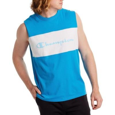 チャンピオン Champion メンズ Tシャツ トップス Colorblock Muscle T-Shirt Blue