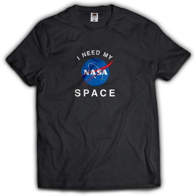 NASA公認Tシャツ(丸首・ラウンドネック)・インサイニア(ミートボール)・フルーツオブザルームボディJ3930HD (M, ブラック)