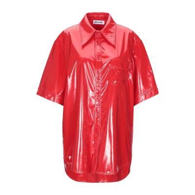 BROGNANO シャツ レッド 38 ポリエステル 62% / ポリウレタン 38% シャツ