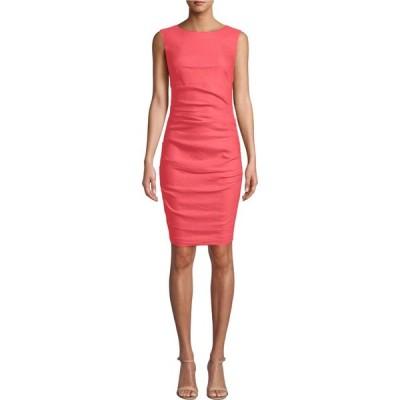 ニコルミラー Nicole Miller レディース ワンピース ワンピース・ドレス Lauren Stretch Linen Dress Mediterranean Coral