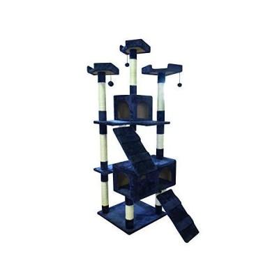 SunRuck サンルック キャットタワー 肉球ランド 据え置きタイプ 猫用タワー スリム おもちゃ付き 爪とぎ 隠れ家