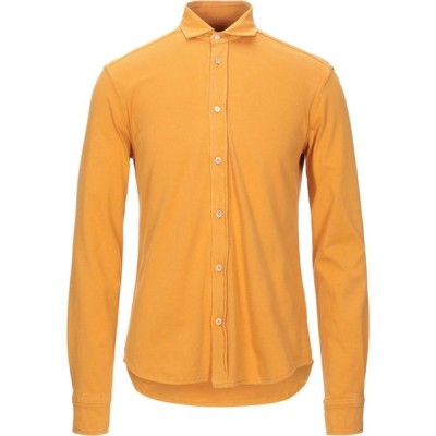 チルコロ1901 CIRCOLO 1901 メンズ シャツ トップス solid color shirt Ocher