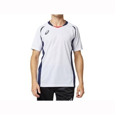 【送料290円】アシックス ゲームシャツ ホワイトxピーコート asics 2101A061 103