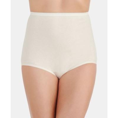 バニティフェア Vanity Fair レディース ショーツのみ インナー・下着 Perfectly Yours Cotton Classic Brief Underwear 15318 Candleglow (Nude )