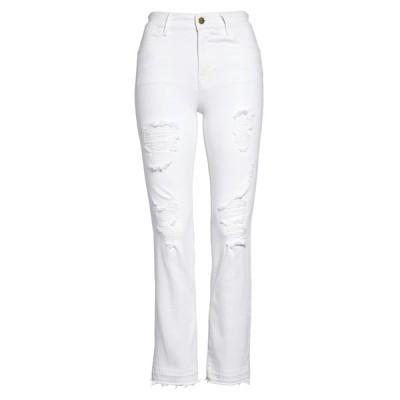 フレーム レディース デニムパンツ ボトムス Le High Ripped Straight Leg Jeans BLANC RIPS
