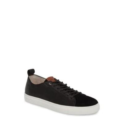 ブラックストーン メンズ スニーカー シューズ Suede & Leather Low Top Sneaker BLACK
