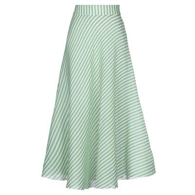 HISTORY REPEATS ロングスカート ライトグリーン 42 コットン 62% / シルク 21% / アクリル 17% ロングスカート