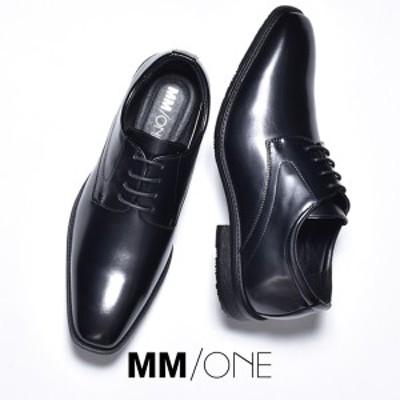 ビジネスシューズ メンズ 革靴 皮靴 おしゃれ ブランド MM/ONE エムエムワン 短靴 短ぐつ ドレスシューズ 外羽根 レースアップシューズ