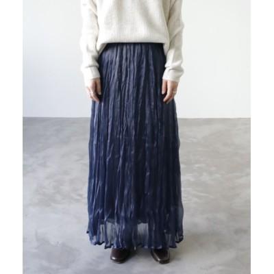 スカート 【UNFIELD グリッターワッシャースカート】