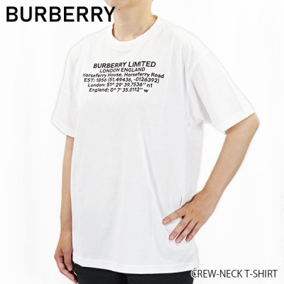 BURBERRY バーバリー クルーネック Tシャツ 半袖 レディース 8024629 113839/G A1464