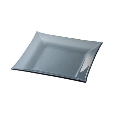 中皿 23.5cm スクエアープレート ガラス食器 シーニュ スモーク おしゃれ 洋食器