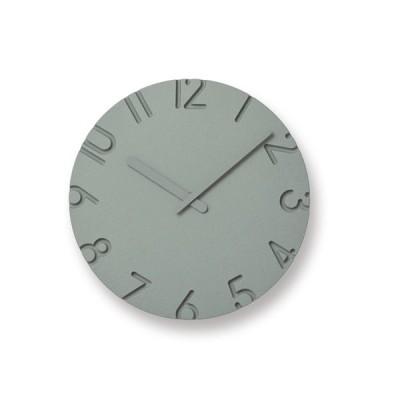 掛け時計 CARVED COLORED φ240/ GY レムノス 寺田尚樹 壁掛け時計