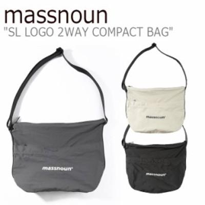 マスノウン クロスバッグ massnoun メンズ SL LOGO 2WAY COMPACT BAG ロゴ ツーウェイ コンパクト バッグ MSNAB003-DG/BG/BK バッグ