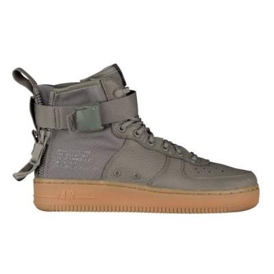 ナイキ レディース スニーカー Nike SF Air Force 1 Mid Dark Stucco/Gum Lt Brown エアフォースワン