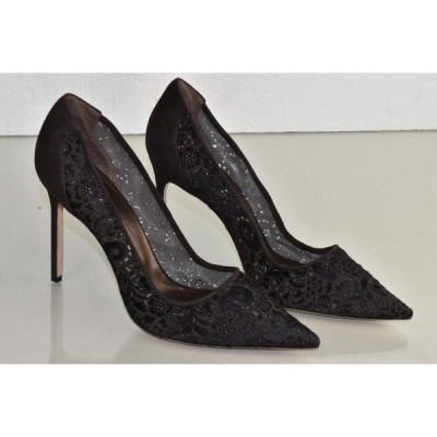 ハイヒール マノロブラニク Manolo Blahnik BB 105 Calf Hair Pony Lazer  Cut Brown Pumps Shoes 42