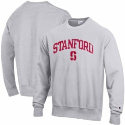 Champion チャンピオン スポーツ用品  Champion Stanford Cardinal Gray Reverse Weave Crewneck Sweatshirt