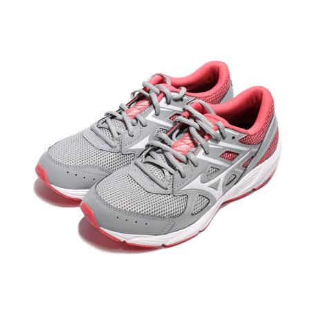 MIZUNO 女 MIZUNO SPARK 6 一般型慢跑鞋 灰粉 - K1GA210401