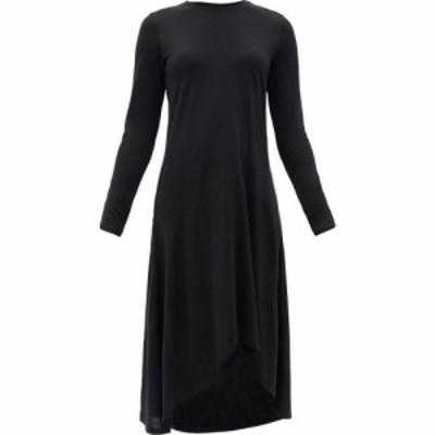 アバウト About レディース ワンピース ミドル丈 ワンピース・ドレス Sokis asymmetric-hem wool and Lyocell midi dress Black