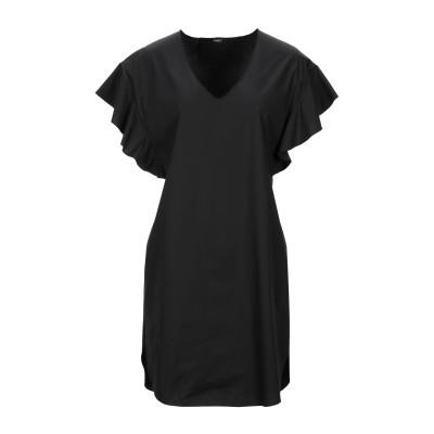 カルラ ジー CARLA G. ミニワンピース&ドレス ブラック 44 コットン 72% / ナイロン 25% / ポリウレタン 3% ミニワンピー