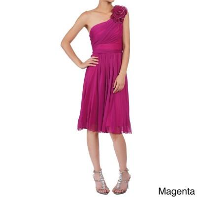 海外セレクション ドレス DFI Women's Floral Patch One-shoulder Short Dress