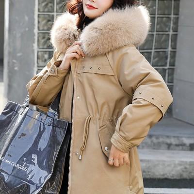 フード付きジャケット ゆったり 大人可愛い カジュアル フェミニン ガーリー 秋冬 お出かけ 通勤 通学 デート 女子会