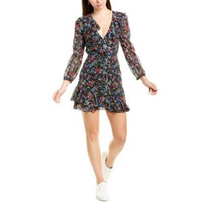 サローニ レディース ワンピース トップス Saloni Jodie Silk-Blend Mini Dress jewel rosette