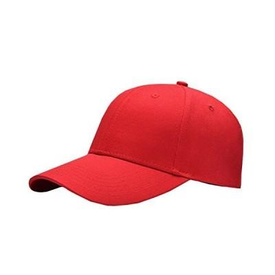 BUZZxSELECTION(バズ セレクション)キャップ 帽子 野球帽 おしゃれ 黒 無地 白 メンズ レディース CAP006 (07.レッド)