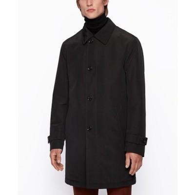 ヒューゴボス ジャケット&ブルゾン アウター メンズ BOSS Men's Dain4 Regular-Fit Overcoat Black