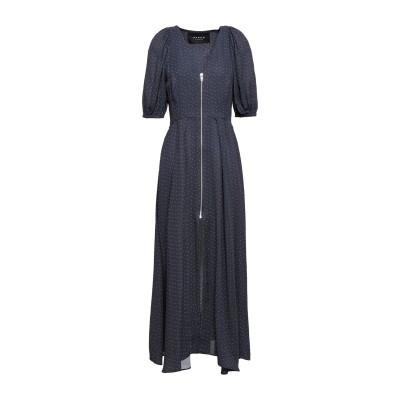 PAPER London ロングワンピース&ドレス スチールグレー 6 レーヨン 100% ロングワンピース&ドレス