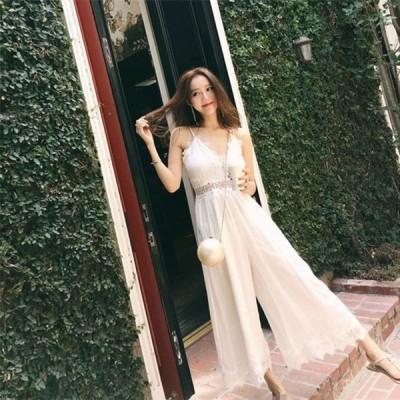 オールインワン ダンス 衣装 ワンピース パンツ ワイドパンツ ドレス ロングワンピース レディース