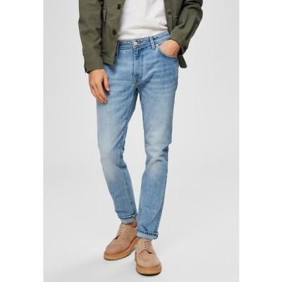 セレクテッドオム デニムパンツ メンズ ボトムス Slim fit jeans - light blue denim