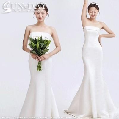新品ウェディングドレス ウエディングドレス白 パーティー ビスチェタイプ 花嫁ロングドレス 結婚式 トレーン 二次会 フォームドレス お呼ばれ 挙式hs6313