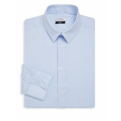 ヴェルサーチコレクション Men Clothing Point Collar Cotton Dress Shirt