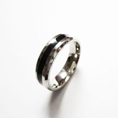 ステンレスリング 指輪 ブラックライン 黒 RB02 ステンレスアクセサリー