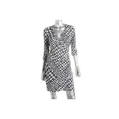 ドレス 女性  ゲス Guess 2198 レディース Penelope ブラック-アイボリー Matte Jersey Wear to Work ドレス 4