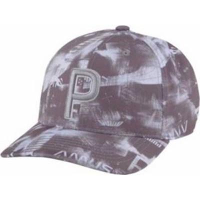 プーマ メンズ 帽子 アクセサリー PUMA Men's Hacked P 110 Snapback Golf Hat Quiet Shade/High Rise