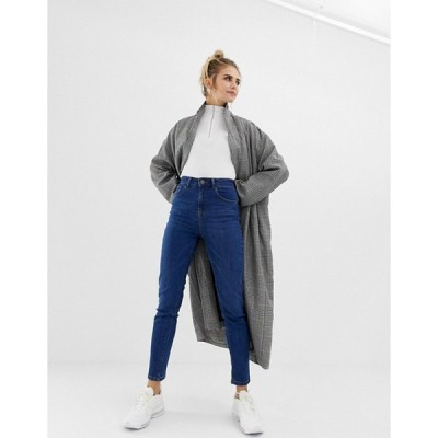 エイソス レディース  デニムパンツ ボトムス ASOS COLLUSION x011 slim mom jeans in dark stone wash